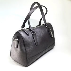 Coach gun metal gray doctor's bag